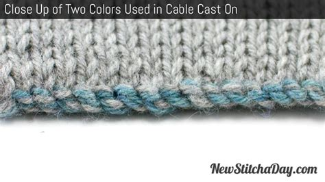 how to alternate colors in knitting exle of the two color cast on for knitting