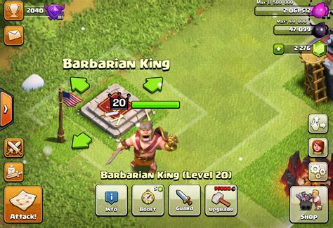 Clash Of Clans King clash of clans barbarian king stats levels and tips