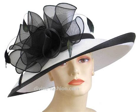 s church hat kentucky derby hat wt bk black wt