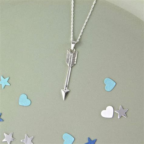 Sterling Silver Arrow Necklace sterling silver arrow necklace by gaamaa