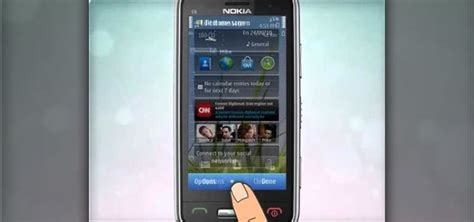 how to use the touch screen on a nokia c6 01 smartphone