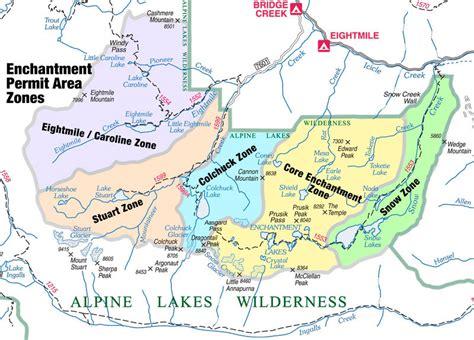 enchantments trail map enchantment lakes washington enchantments