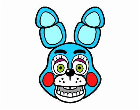 imagenes para colorear fnaf dibujo de cara de toy bonnie de five nights at freddy s