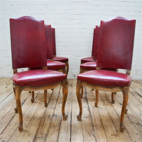 6 Leather Dining Chairs 6 High Back Faux Leather Dining Chairs Antiques Atlas