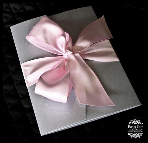 wedding invitations with bows diy wedding invitation handspire