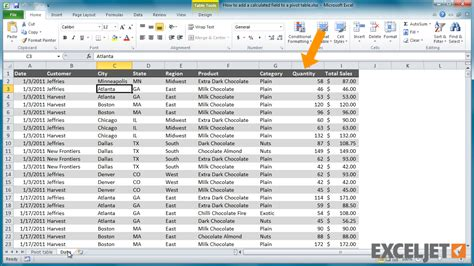 how to add pivot table in excel excel tutorial how to add a calculated field to a pivot table