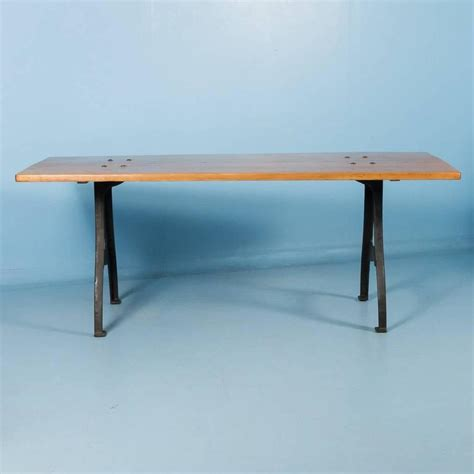 Iron Dining Table Legs Antique Pine Dining Table With Cast Iron Legs For Sale At 1stdibs