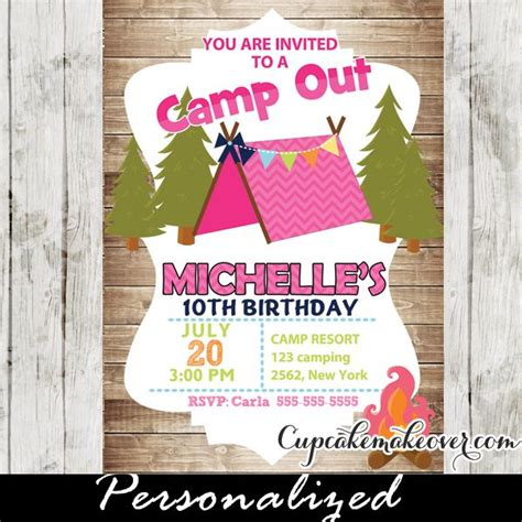 camp out invitations printable free 25 best ideas about camping party invitations on