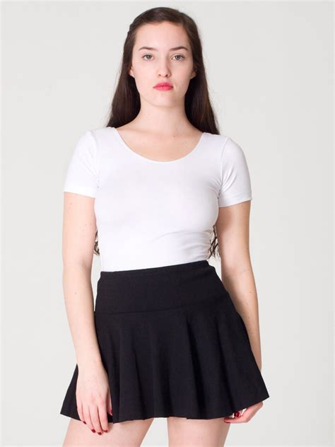 american apparel american apparel 1303 thick knit jersey skirt 6 75 skirts