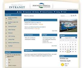 company intranet template healthcare intranet exle northfield hospital clinics