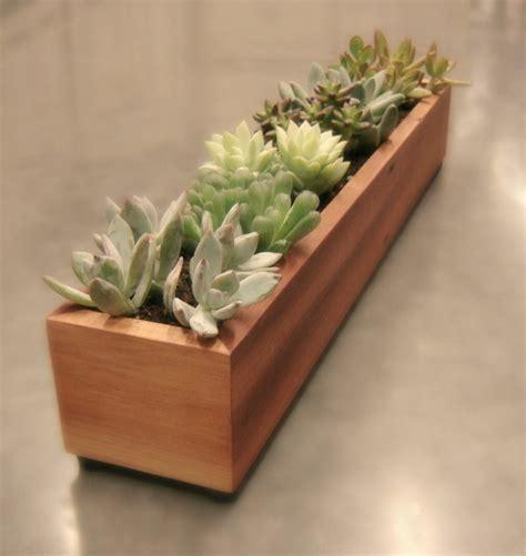 Handmade Wooden Planters - 16 minimalistic handmade wooden planter designs