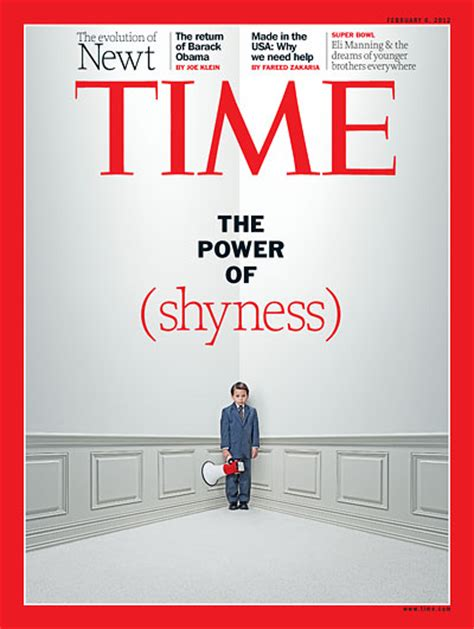time magazine cover the power of shyness feb 6 2012