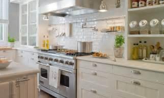 Beautiful kitchen with creamy white ivory kitchen cabinets light gray