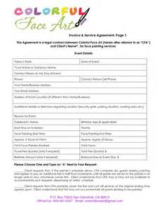 Painters Contract Template by Sle Invoice For Makeup Artist Ebook Database