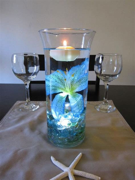 tiger centerpieces blue tiger wedding centerpiece kit blue marbles and led light wedding flower and
