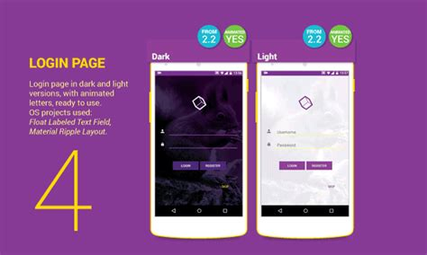 android layout template exle template listview android