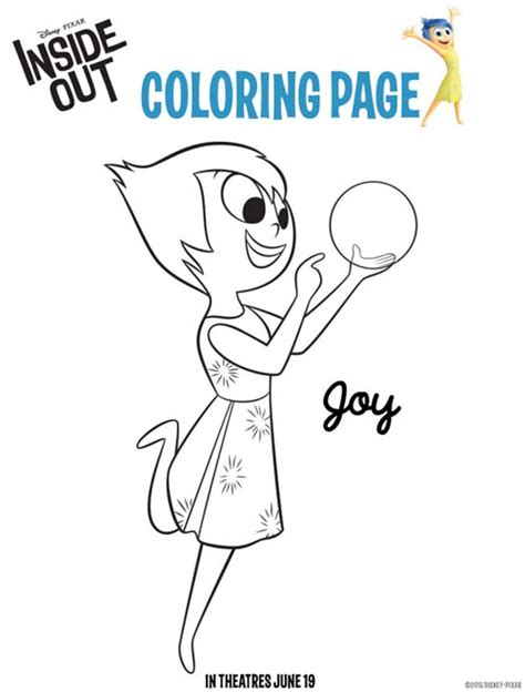 Disney Pixar Inside Out Coloring Pages And Activity Sheets Joys Coloring Pages Page