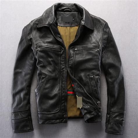 aliexpress buy vintage genuine leather jacket