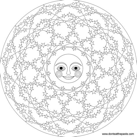 moon mandala coloring pages don t eat the paste stars mandala to color