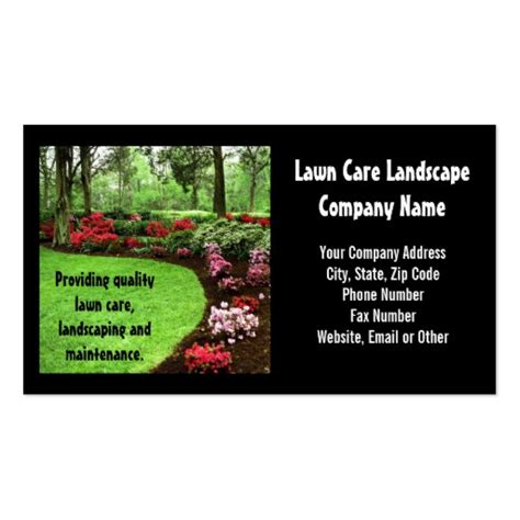 Lawn Care Business Cards Templates plush green landscape lawn care business sided