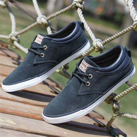 Powell Blue Sneakers Sepatu Casual Canvas top fashion brand sneakers canvas s shoes for daily casual shoes autumn s