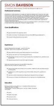 business exles business cv sle myperfectcv