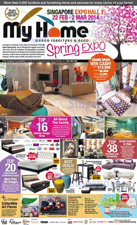 home design expo singapore 23 feb lucky draw interior design mattress brands