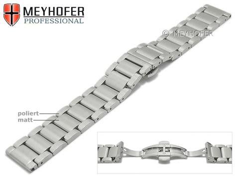 Edelstahl Uhrenarmband Polieren by Uhrenarmband Langley 20mm Edelstahl Massiv Teilweise
