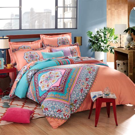 boho bedding sets twin full queen size 100 cotton bohemian boho style