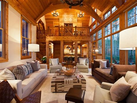 living room in mansion jerry seinfeld s house in telluride celebrity cribs