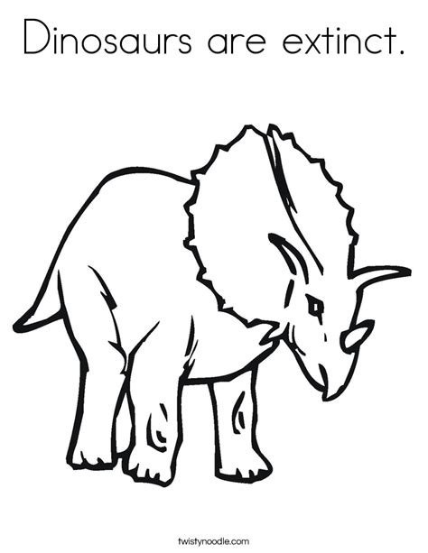 coloring pages of extinct animals dinosaurs are extinct coloring page twisty noodle