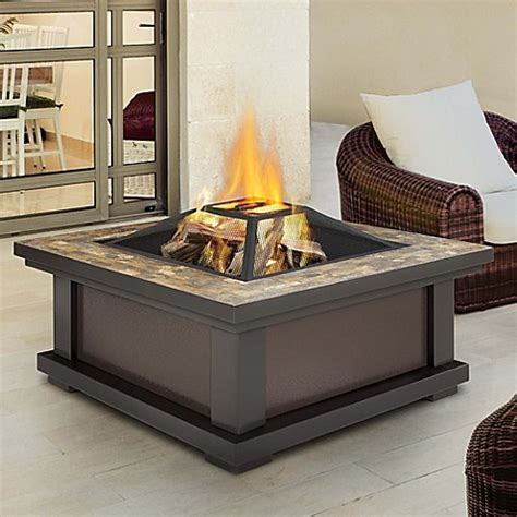fire pit bed bath and beyond real flame 174 alderwood fire pit in black bed bath beyond