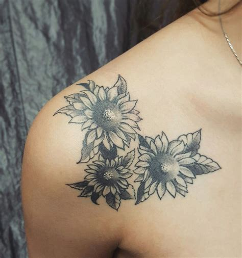 black and white sunflower tattoo tattoo collections