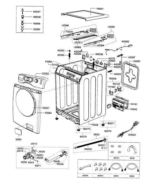 samsung front load washer parts diagram assy diagram parts list for model