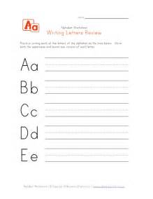 writing letters review worksheets learning station