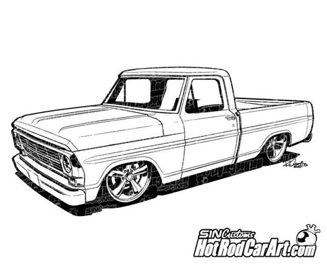 vintage cars drawings 1969 ford f100 pickup truck clip art pickup trucks