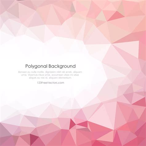 polygonal light pink pattern background illustrator light pink polygonal background illustrator 123freevectors