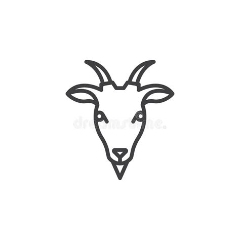 goat head line icon outline vector sign stock vector