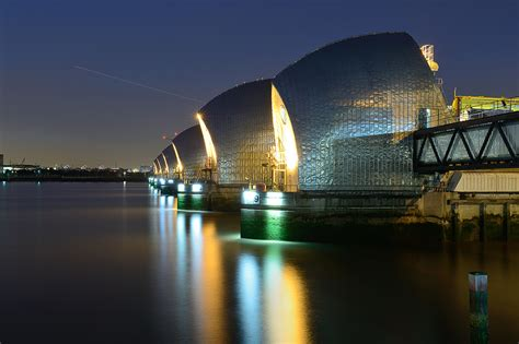 thames barrier at night thames barrier in london arpad lukacs photography