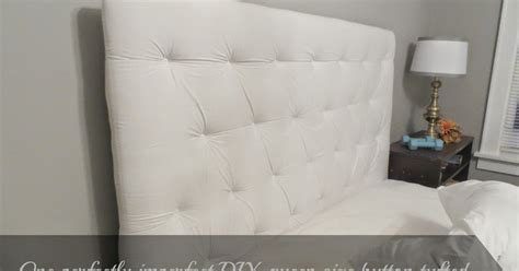 diy queen tufted headboard beyond the portico one diy queen size button tufted