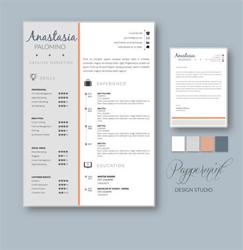 Resume Template With Cover Letter For Word With Timeline Timeline Resume Templates Word And Timeline Resume Template