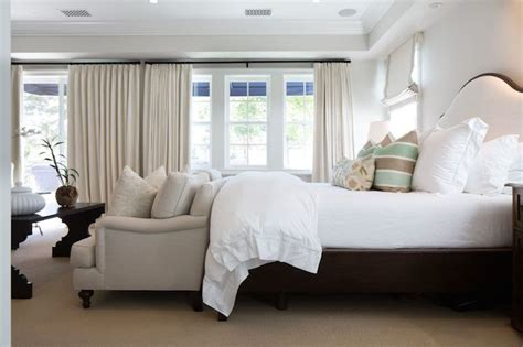 sofa  foot   bed transitional bedroom kelly