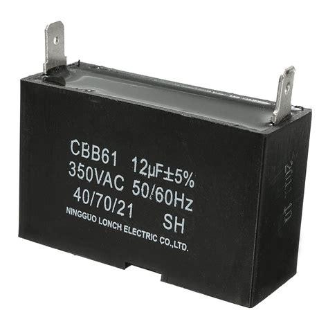 replace generator capacitor 350vac 12uf cbb61 replacement generator regulator capacitor half moon 50 60hz ebay