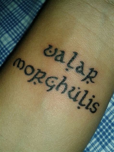 valar morghulis wrist tattoo by lovely immortal on deviantart
