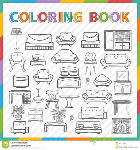 Livre De Coloriage De Vecteur Int 233 Rieur 224 La Maison