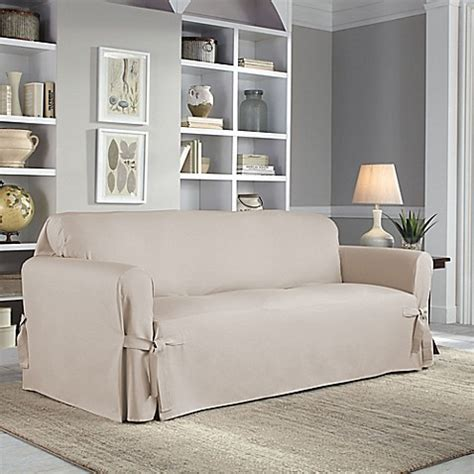 perfect fit sofa covers buy perfect fit relaxed fit cotton duck sofa slipcover in