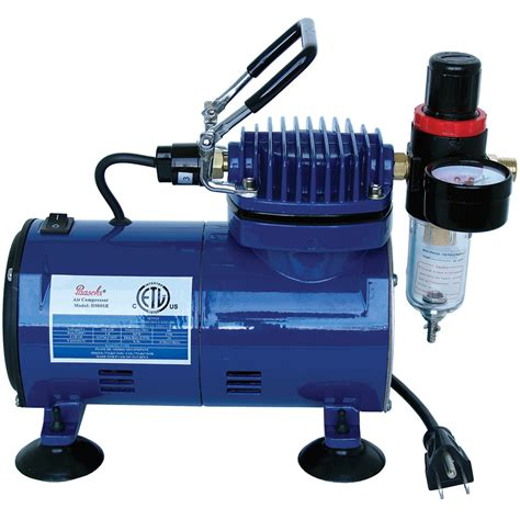 paasche d500sr 1 8 hp airbrush compressor with regulator