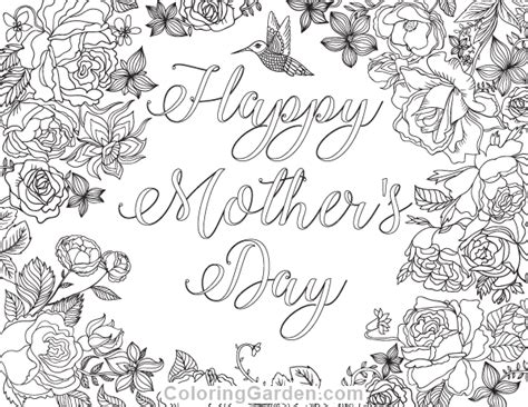 hard coloring pages for mother s day unique happy mothers day coloring page 43 artsybarksy