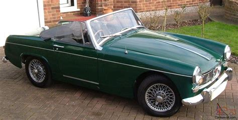 british racing green mg mg midget 1965 mk11 1098cc british racing green