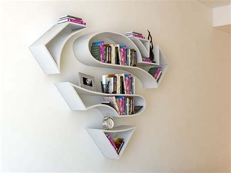 the concept bookshelf inspired by superman�s logo gadgetsin